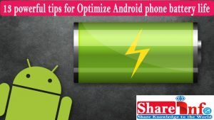 Optimize Android phone battery life